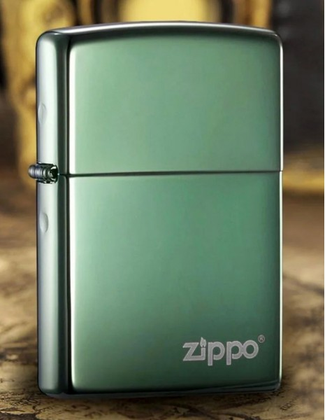 Zippo 28129ZL Original Zippo Upaljač Chameleon Green High Polish Chrome Zippo Logo