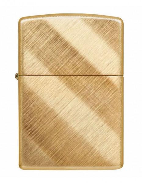 Zippo 29675 Original Zippo Lighter Brass Chrome Diagonal Weave