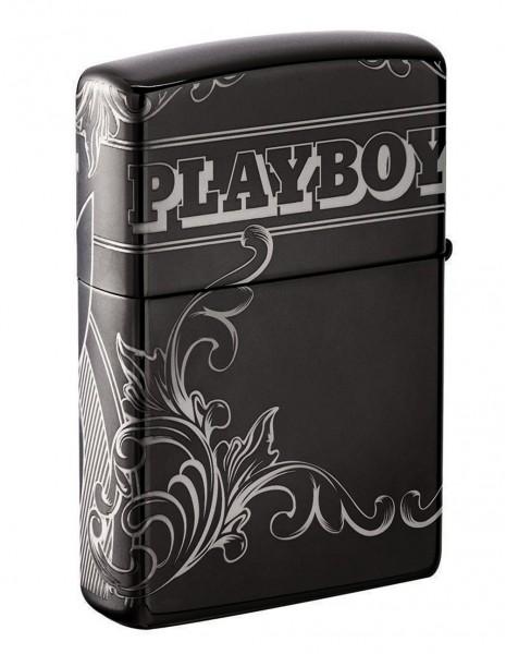Zippo 49085 Zippo Premium Lighter Playboy Black Ice Photo Image 360°