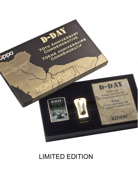 Zippo Lighter Black Crackle D-Day 70th Anniversary 10000 Limited