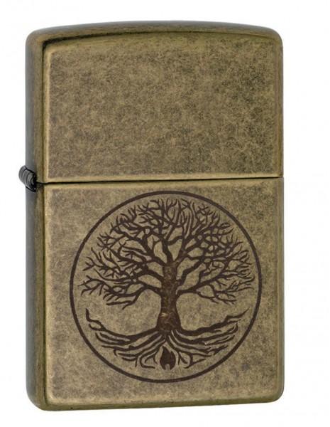 Zippo 29149 Original Zippo Lighter Antique Brass Tree of Life