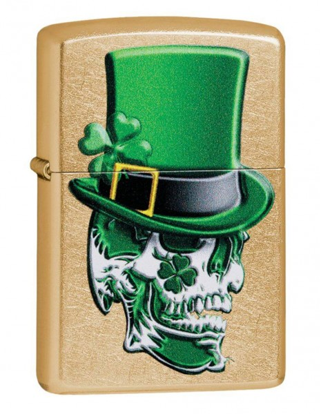 Zippo 49121 Original Zippo Lighter Gold Dust Irish Skull