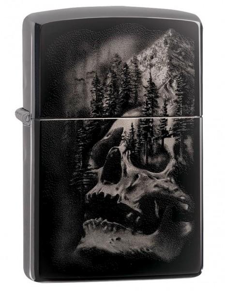 Zippo 49141 Zippo Lighter Black Ice Skull Mountain