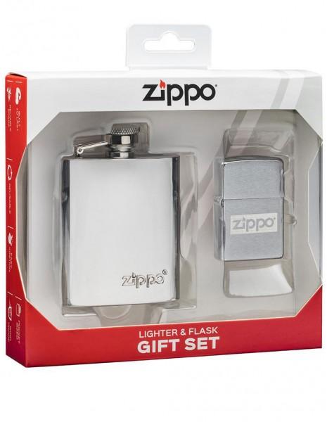 Zippo 49358 Zippo Gift Set Zippo Flask & Lighter
