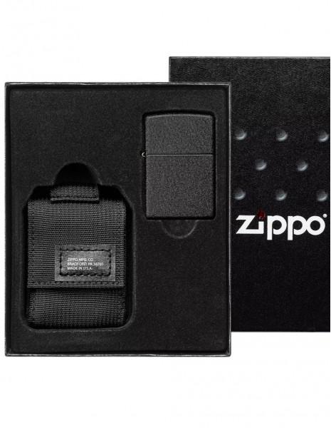 Zippo 49402 Zippo Poklon Komplet Tactical Pouch and Black Crackle Lighter