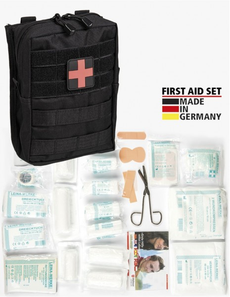 Miltec 16025502 Leina-Werke First Aid Set Large Black