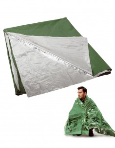Bushcraft Military Survival Blanket Olive Silver 16024500