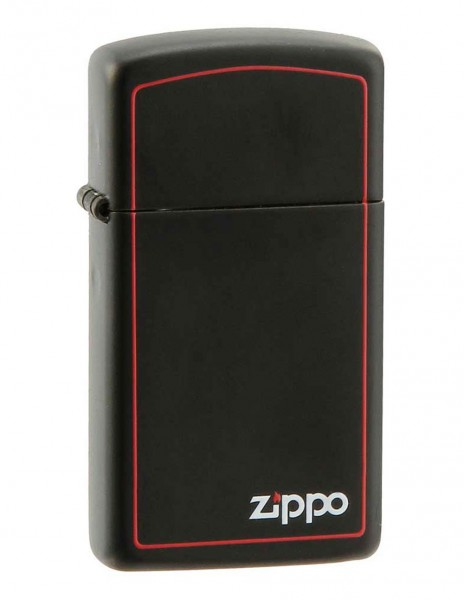 Zippo 1618ZB  Original Zippo Upaljač Slim Black Matte Zippo Border