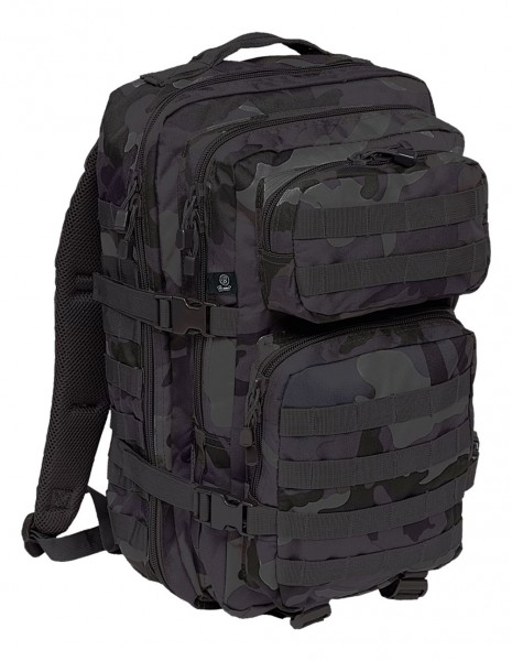 Brandit 8007-4 Camping Hiking Army Molle Backpack US Cooper Medium Dark Camo
