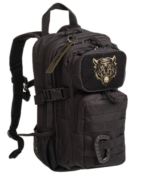 Miltec 14001102 Outdoor Camping Hiking Army Kids Backpack Assault 15L Black