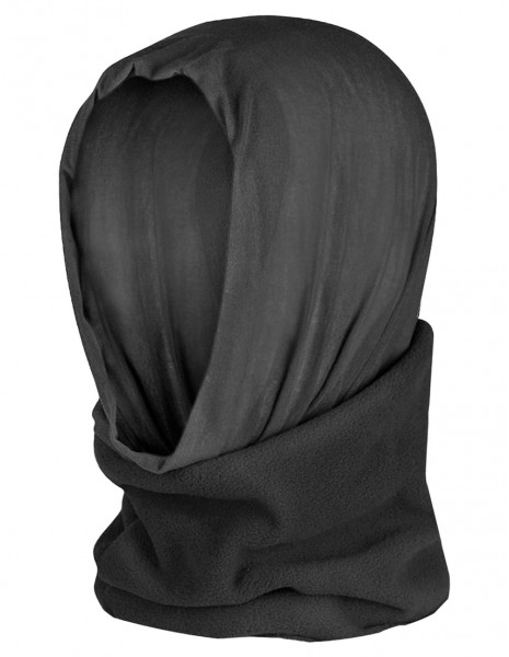 Miltec 12217002 Dual Fleece Winter Buff  Balaclava Black