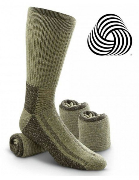 Miltec 13007101 Swedish Army Hiking Hunting Winter Wool Socks Olive