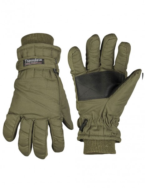 Miltec 12530001 Winter Hunting Army Waterproof Gloves Thinsulate Olive
