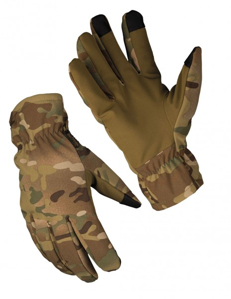 Miltec 12521349 Softshell Touch Thinsulate Winter Waterproof Gloves Multicam