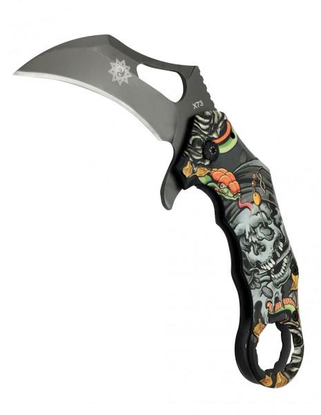 Folding Knife Karambit Derespina X73 Skull