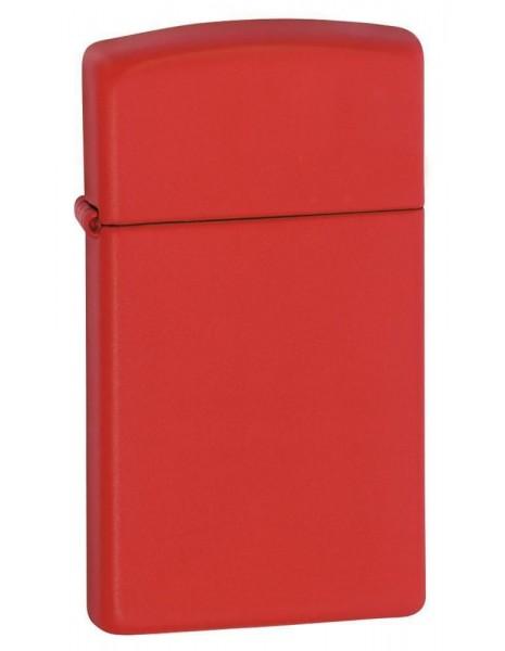 Zippo 1633 Original Zippo Lighter Slim Red Matte