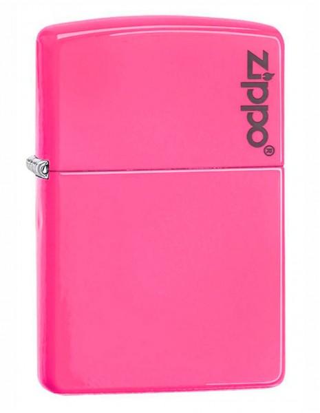 Zippo 28886ZL Original Zippo Lighter Neon Pink Zippo Logo