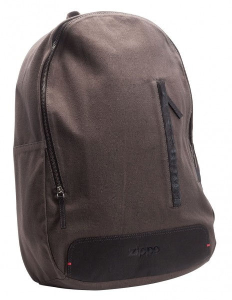 Zippo 2005575 City Backpack Canvas And Mocha Leather