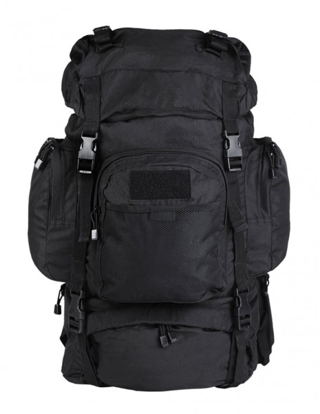 Miltec 14027002 Outdoor Military Army Hiking Rucksack Commando 55 Liters Black Sale