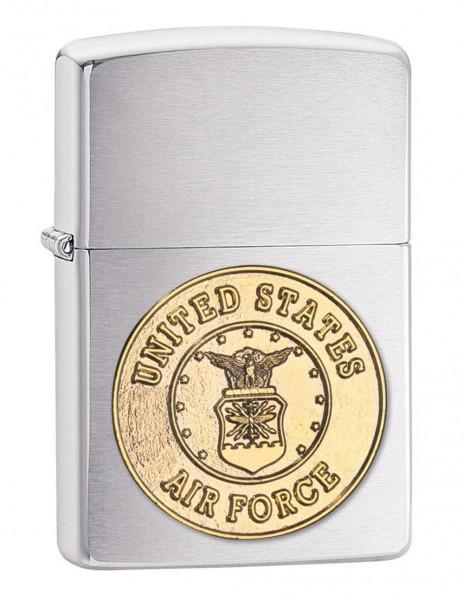 Zippo 280AFC Original Zippo Lighter United States Air Forces Brushed Chrome