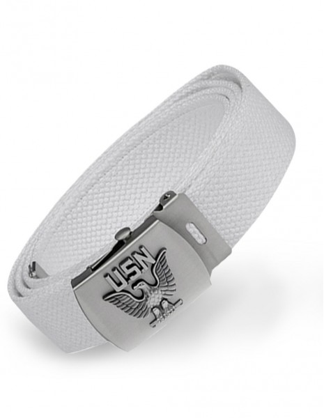 Miltec 13112207 US Navy Belt White 130cm