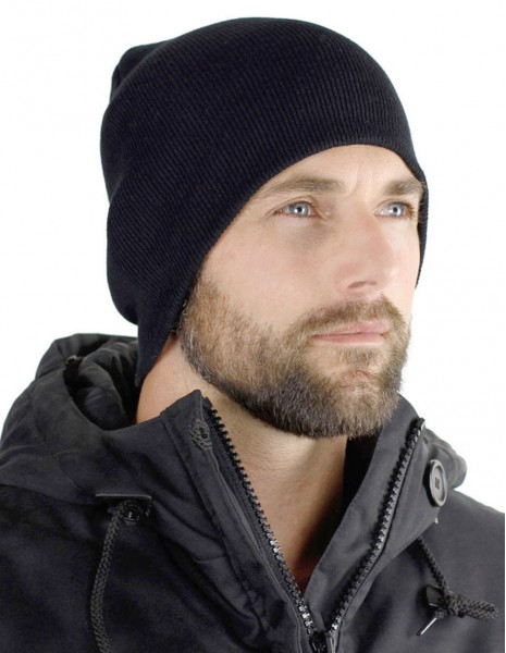 Miltec 12138002 Beanie Cap Ribbed Black