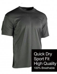 Tactical Quick Dry Sport Gym T-Shirt Urban Gray 11081008