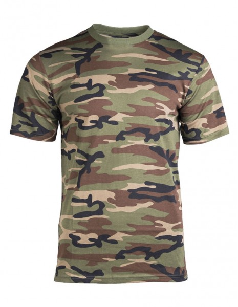 Camouflage T-Shirt Cotton Woodland 11012020