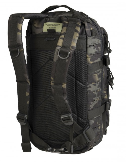 Outdoor Camping Hiking Army Backpack Laser-Cut Assault 25L Multicam Black