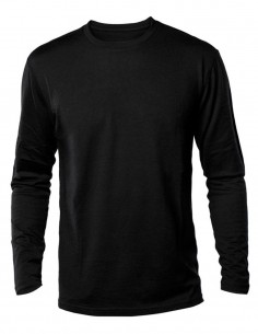 Long Sleeve T-Shirt Cottonn US Style Black 11065002