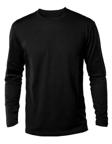 Long Sleeve T-Shirt Cottonn US Style Black 11065002
