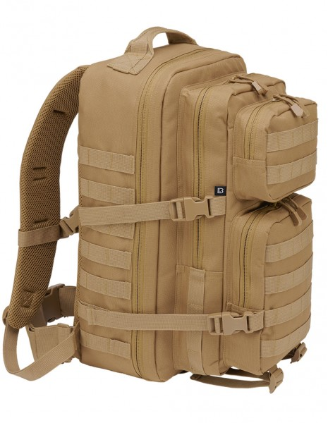 Brandit 8008-70 Camping Hiking Army Molle Backpack US Cooper Large 40 Liter Camel Desert