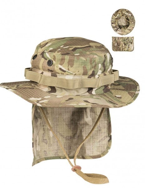 Miltec 12326149 British Army Boonie RipStop Neck Flap Multicam