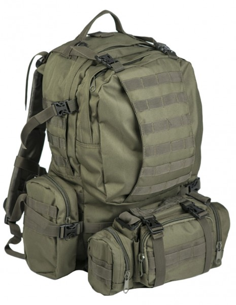 Miltec 14045001 Defense Pack Modular Hiking Hunting Tactical Army Backpack 45L Olive
