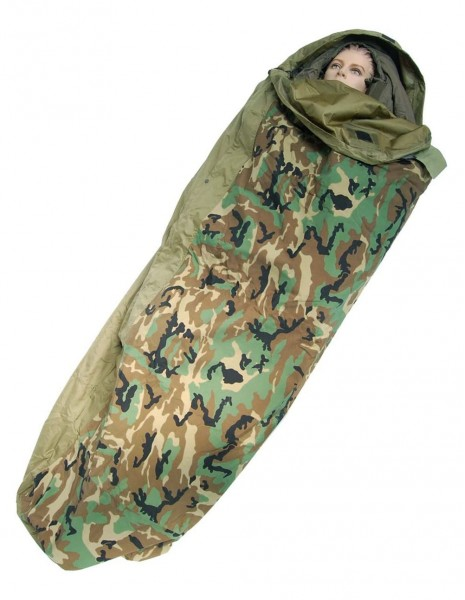 Miltec 14115020 Waterproof Bivi Sleeping Bag Cover Woodland