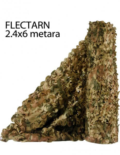 Miltec 14463021 Army Hunting Bird Airsoft Camouflage Nets Flecktarn 2.5x6 Meters
