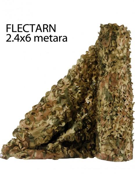Miltec 14463021 Army Lovačka Maskirna Mreža Flecktarn 2.5x6 Metara