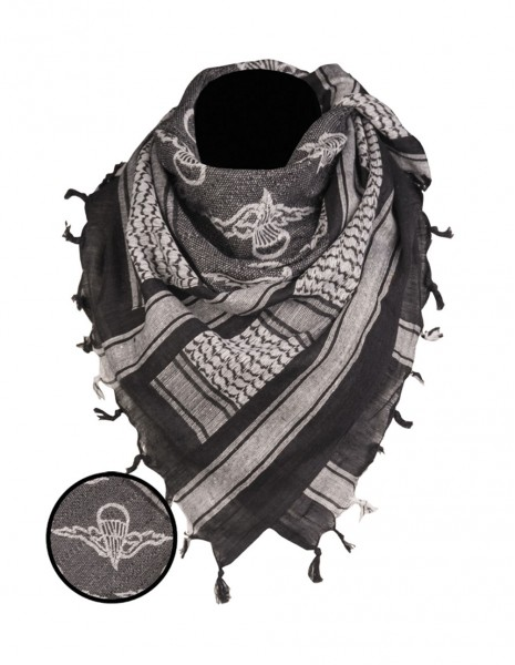 Original Shemagh Army Military Desert Scarf Paratrooper Black 12609302