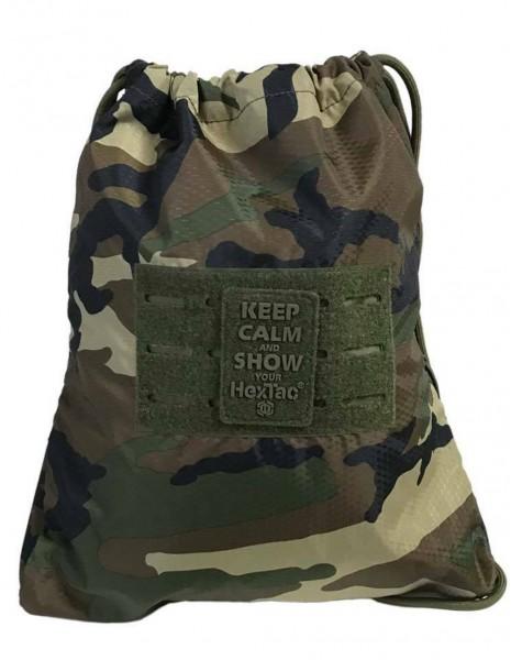 Miltec 14048020 HexTac Gym Army Sports Bag Woodland