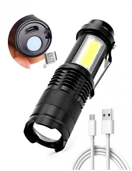 Mini Flashlight / Lantern Zoom USB