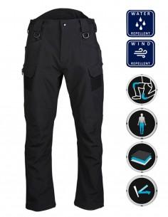 Softshell Tactical Hiking Waterproof Pants Assault Black 11380002
