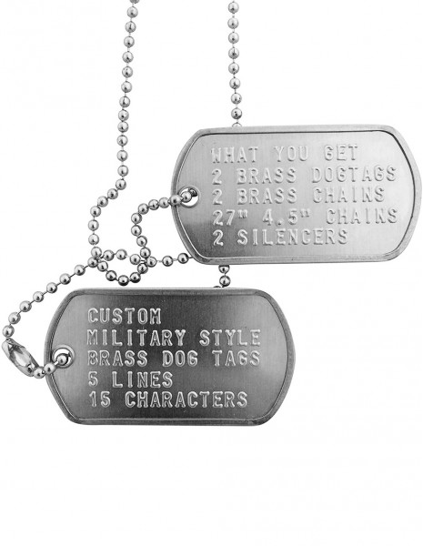 Dog Tag Set Engraving Standard Steel