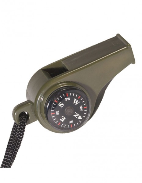 Miltec 16327000 Signal Whistle with Thermometer and Compass