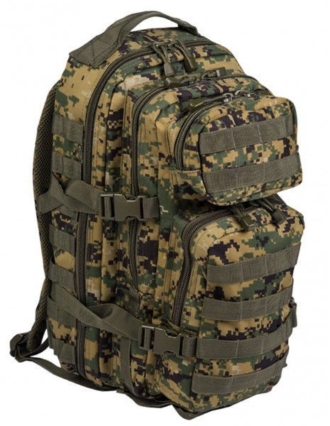 Miltec 14002071 Outdoor Camping Hiking Army Backpack 25L Digital Woodland