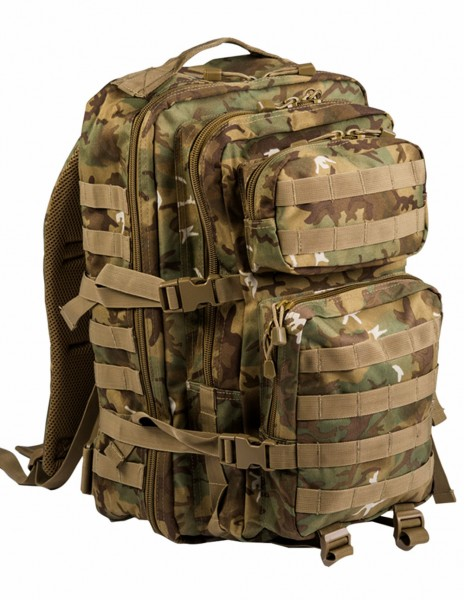 Miltec 14002256 Outdoor Camping Hiking Army Backpack Assault 36L Woodland Arid