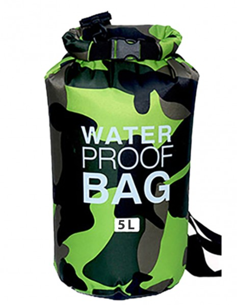 Waterproof Dry Bag 5L Green Camo