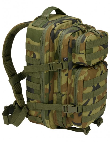 Brandit Camping Hiking Army Molle Backpack US Cooper Medium Woodland 8007