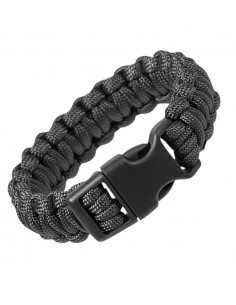 Paracord Survival Bracelet Cobra Black Sale 16370202
