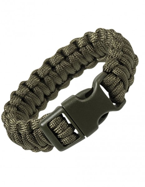 Paracord Survival Bracelet Cobra Olive Sale 16370201
