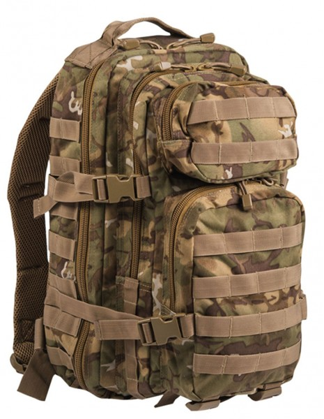 Miltec 14002056 Outdoor Camping Hiking Army Backpack 25L Woodland Arid